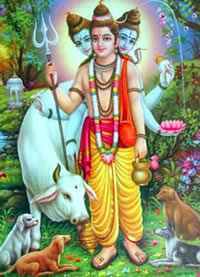Lord Dattatreya Photo courtesy http://www.telugubhakti.com